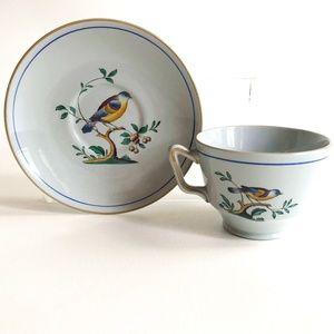 Set Teacup & Saucer Spode Queen's Bird England